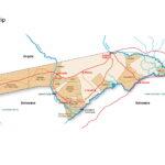 Map of Caprivi Strip in Namibia