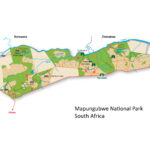 Map of Mapungubwe National Park in South Africa