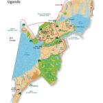 Map of Queen Elizabeth National Park in Uganda