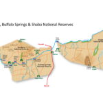 Map of Samburu, Buffalo Springs & Shaba National Reserves in Kenya